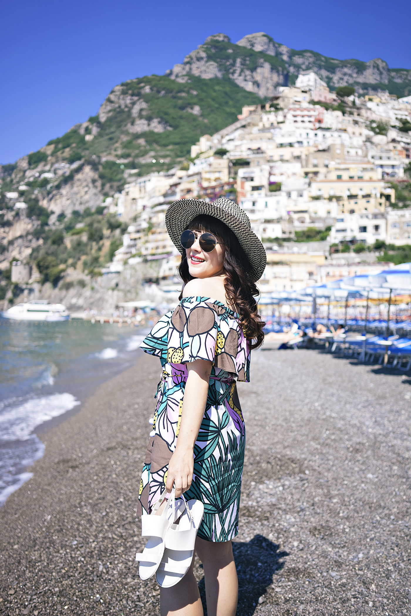 The Perfect Swimsuit and Cover Up in Positano